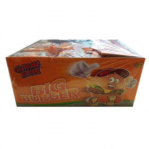 Big Burger Gummy Sweet - Novelty Candy Gummi Zone 32g - Wholesale Box of 18